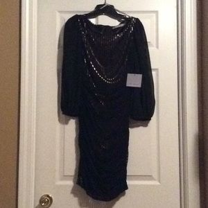 Black/Gold dress